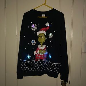 Light Up Grinch Sweater